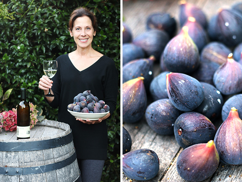 Chef Deborah Dal Fovo picks perfectly ripened figs from the tree in this California garden to make her signature dish of Pork Tenderloin with Figs and Balsamic Sauce.