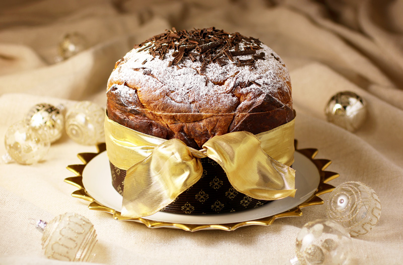 Panettone filled with Whipped Cream, Chocolate and Hazelnuts - This easy recipe transforms classic Italian panettone into a festive, showstopping holiday dessert for elegant Christmas and New Years celebrations.