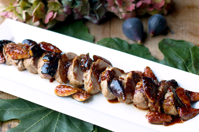 Pork Tenderloin with Figs and Balsamic Sauce - Chef Deborah Dal Fovo's signature dish - theartofitalianliving.com